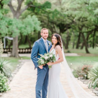 simple organic bride and groom