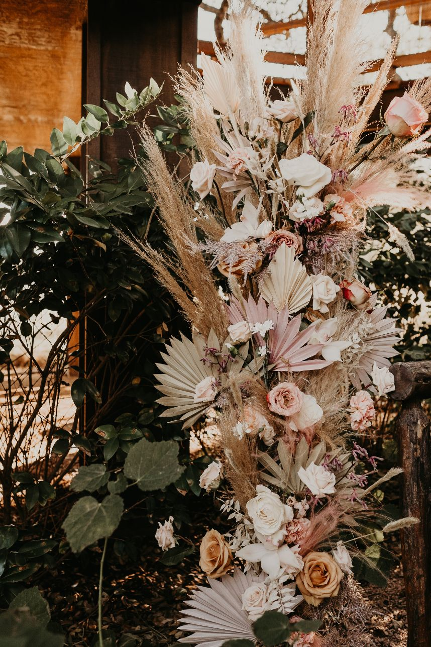 floral installation boho
