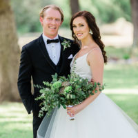 natural bride and groom