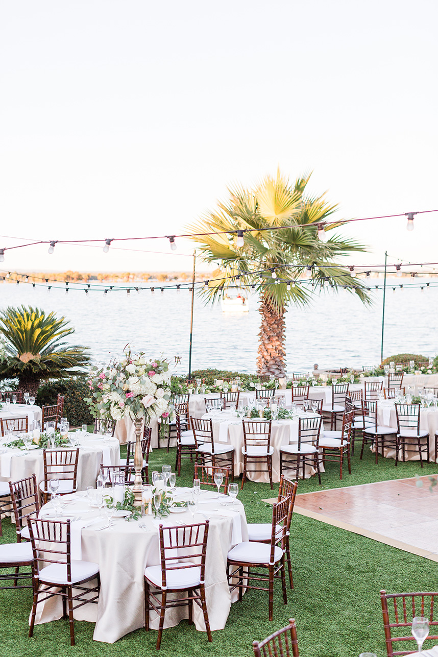 elegant outdoor lakeside reception