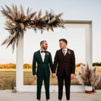 jewel toned groom and groom