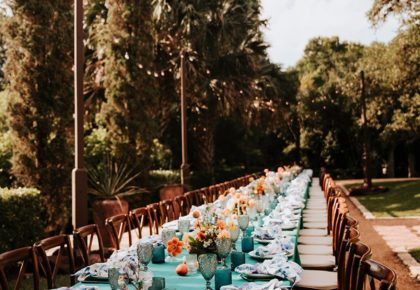 long wedding reception table