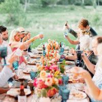 intimate wedding reception guests