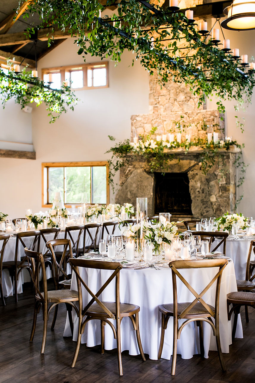 ranch lodge wedding reception