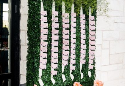 escort card wall