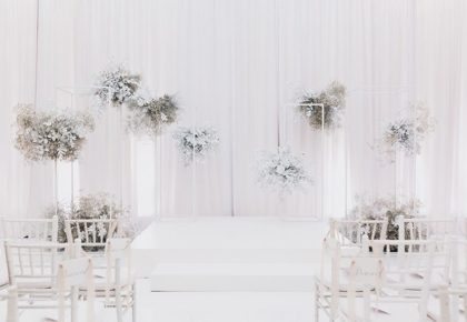 romantic white ceremony