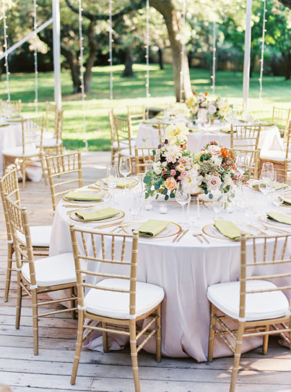 round wedding table + tips for creating guest list