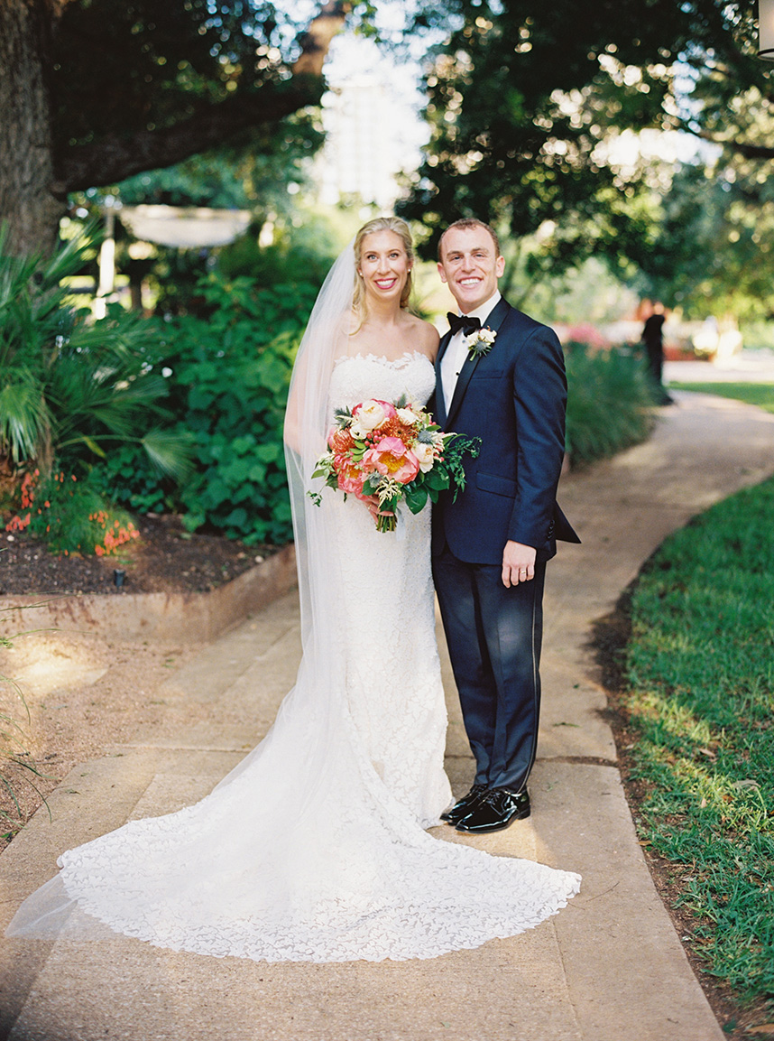 Austin wedding couple
