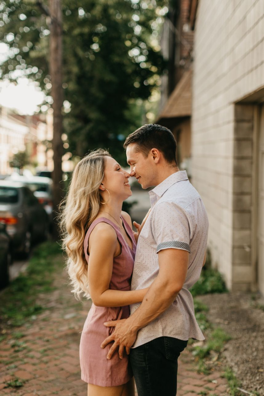 engagement session with wedding photographer