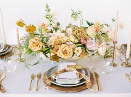 golden, sunny tones in a napa-inspired wedding editorial