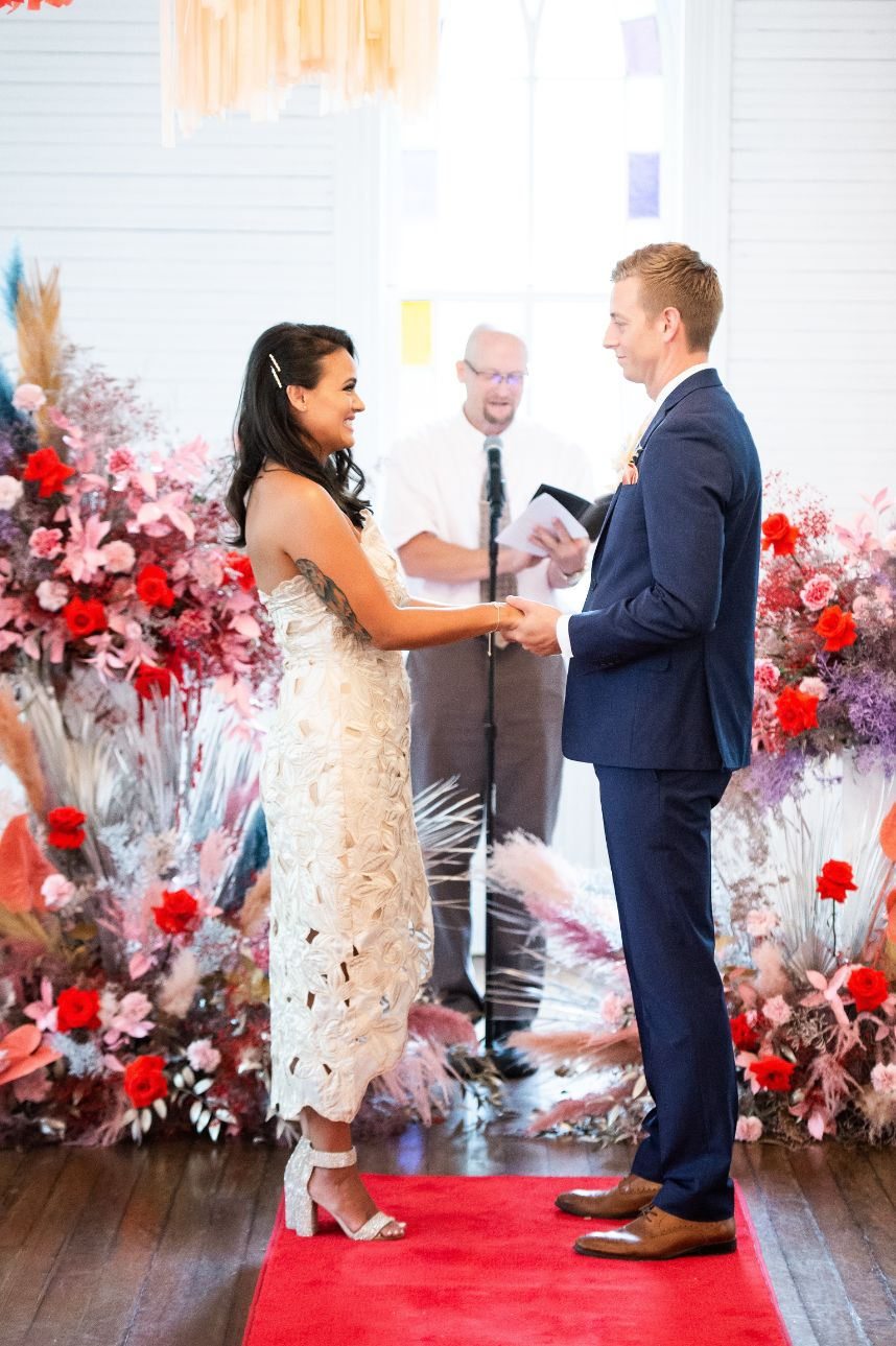 These Couples Eloped in a Vegas Style Pandemic Pop-Up Event