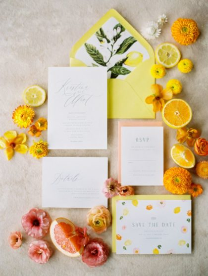 citrusy wedding inspo