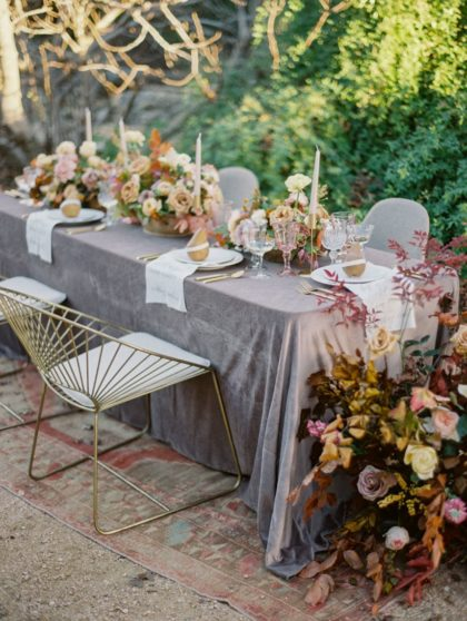 fall wedding inspiration with dreamy jewel tones