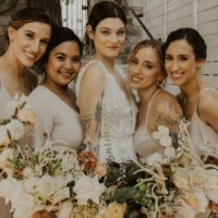 Vintage modern bridesmaids