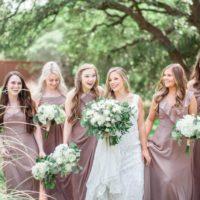 muave bridesmaids dresses, classic bridesmaids shot