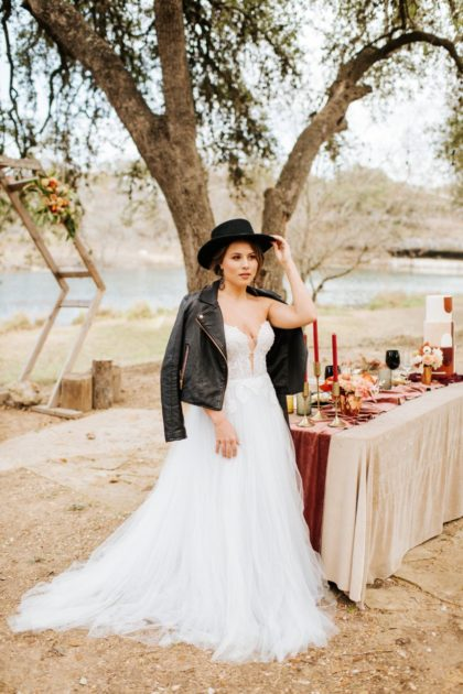 Rugged Romance Wedding Editorial from In Her Shoes Coordination