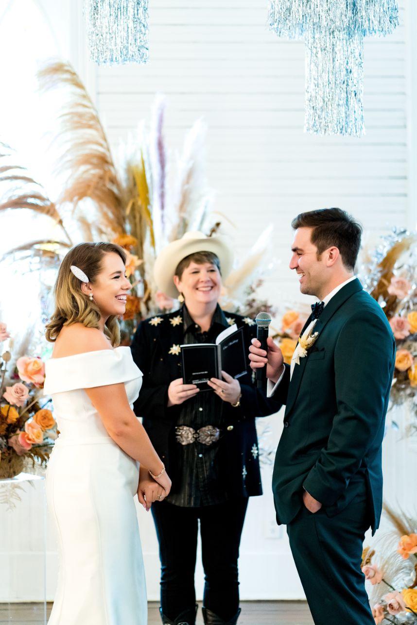 Cosmic Cowboy Elopement Event Austin Wedding Florist Floral Design Remi + Gold Austin Wedding Photographer Cory Ryan Photography