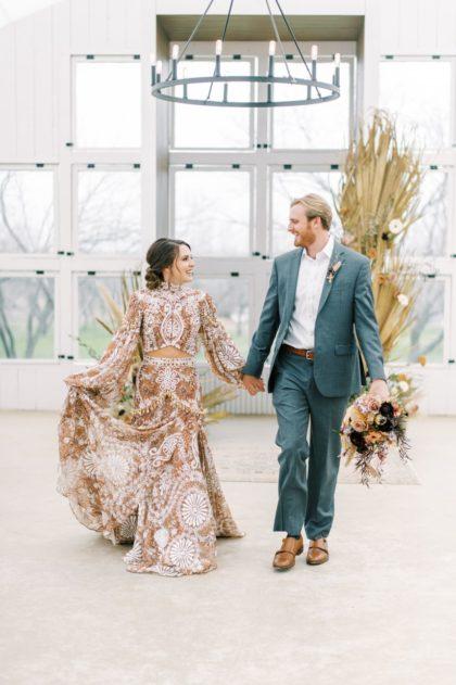 Eclectic Boho Wedding Inspiration Austin Wedding Planner Diletta Elaine Weddings Austin Wedding Florist Floral Design Moon Flora Studio