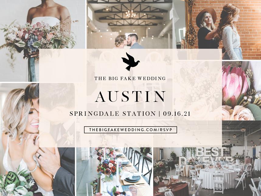big fake wedding austin 2021
